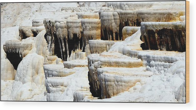 Pamukkale Wood Print featuring the photograph Pamukkale Terraces by Apurva Madia