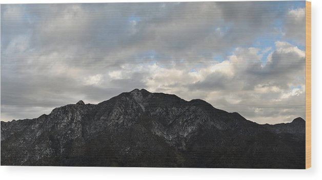 Rocky Peak Wood Print featuring the photograph San Gabriel Mountains Evening by Kyle Hanson