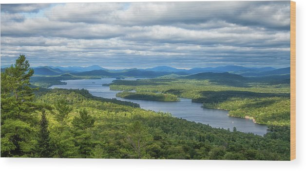 Tranquility Wood Print featuring the photograph View From Bald Mountain by Barbara Friedman