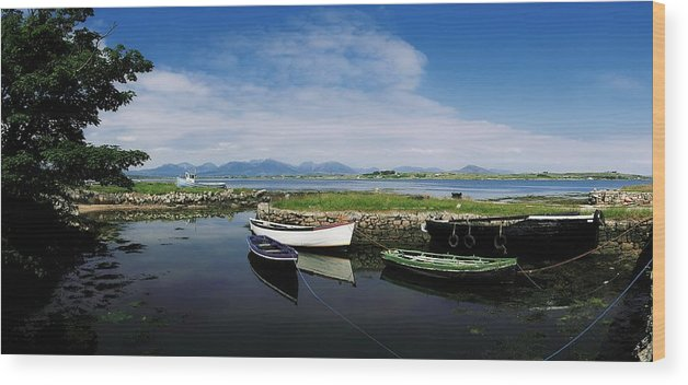 Co Galway Wood Print featuring the photograph Roundstone, Connemara, Co Galway by The Irish Image Collection