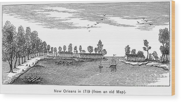 1719 Wood Print featuring the photograph New Orleans, 1719 by Granger
