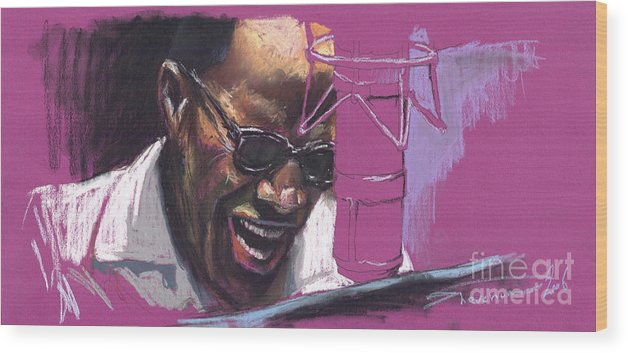 Jazz Wood Print featuring the painting Jazz Ray by Yuriy Shevchuk