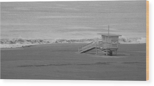 Beaches Wood Print featuring the photograph Life Guard Stand by Shari Chavira