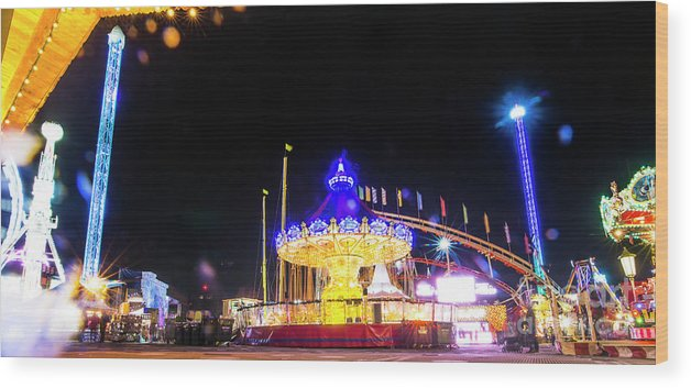 Street Artist Wood Print featuring the photograph London Christmas Markets 22 by Alex Art and Photo
