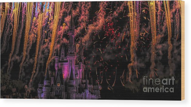 Disney Wood Print featuring the photograph The Magic Of Disney by Paulette Thomas