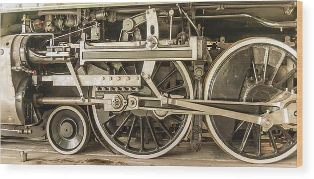 Sepia Wood Print featuring the photograph Sepia Wheels by Irene Theriau