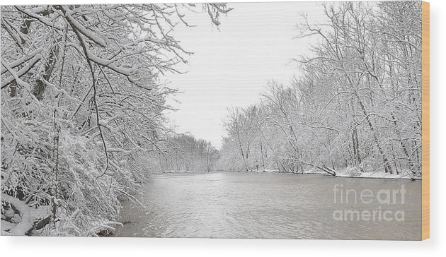 River Wood Print featuring the photograph Snowy River by Brian Mollenkopf