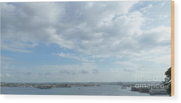 Photography Wood Print featuring the digital art Cuba City And River View by Francesca Mackenney