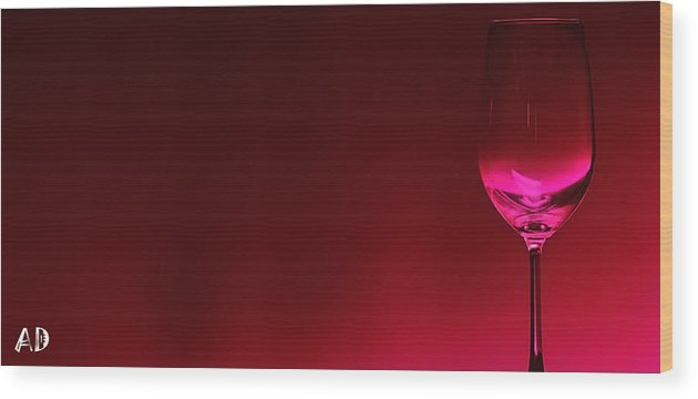 Wine Wood Print featuring the digital art Glass Of Wine by Abhijeet Dhidhatre