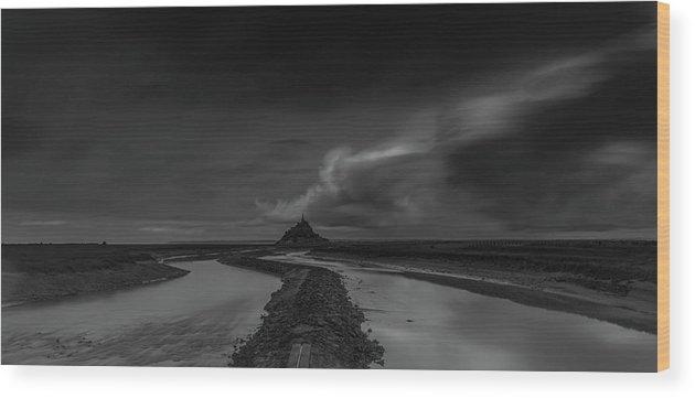 Long Expo Wood Print featuring the photograph Mont Saint Michel 2 by Marcel Van der Stroom