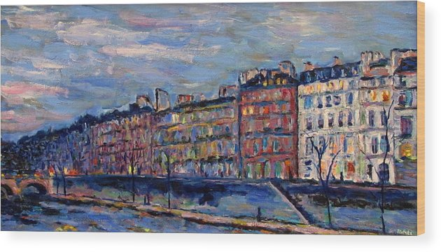 Seine Wood Print featuring the painting The Seine In Paris by Rob White