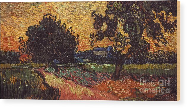 1890 Wood Print featuring the photograph Van Gogh: Castle, 1890 by Granger