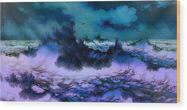 Impression Wood Print featuring the painting Image by Raphael Sanzio