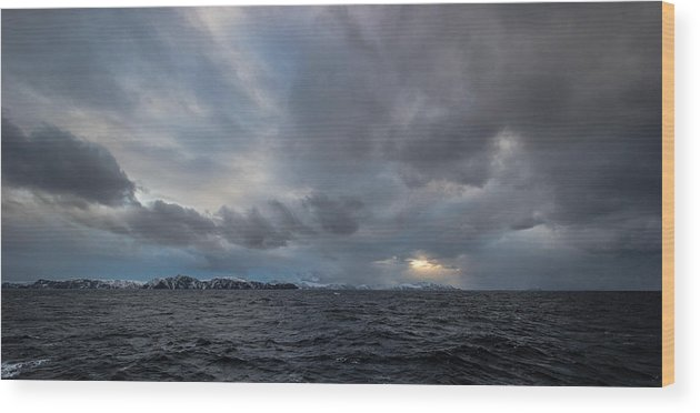 Landscape Wood Print featuring the photograph Angry Skies by Christopher Sinclair