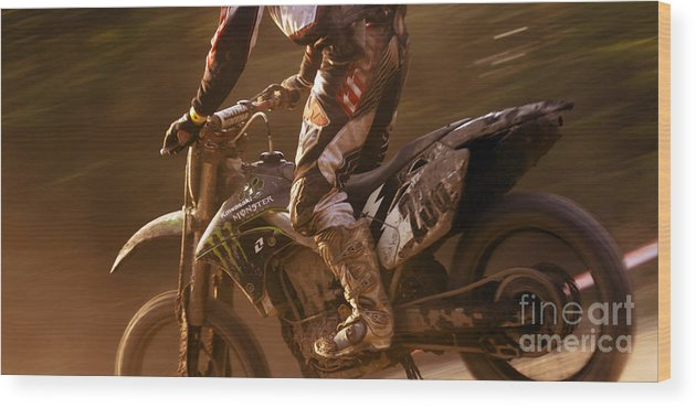 Wood Print featuring the photograph Love Enduro by Angel Ciesniarska