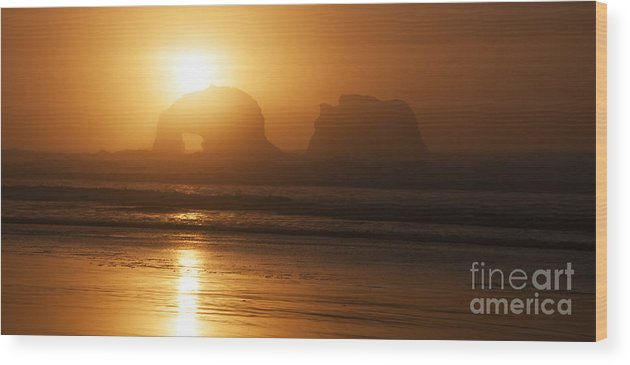 Rockaway Beach Wood Print featuring the photograph Rockaway Beach by Vivian Christopher