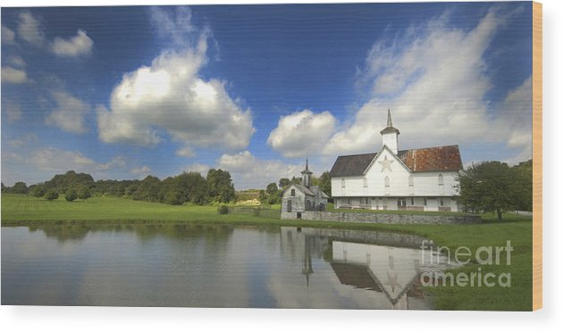 Barn Wood Print featuring the photograph The Star Barn After The Storm by Paul W Faust - Impressions of Light