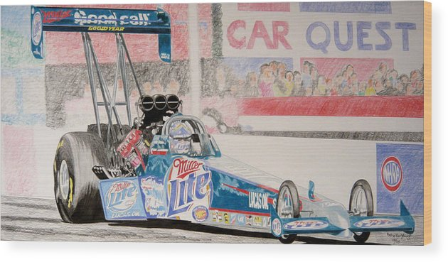 Top Fuel Dragster Wood Print