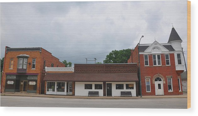 Americana Wood Print featuring the photograph Old Main Street by Daniel Ness