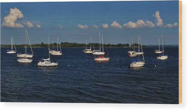Sail Boats Wood Print featuring the photograph Sail Away by Sara Edens
