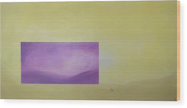 Abstract Wood Print featuring the painting Change by Bojana Randall