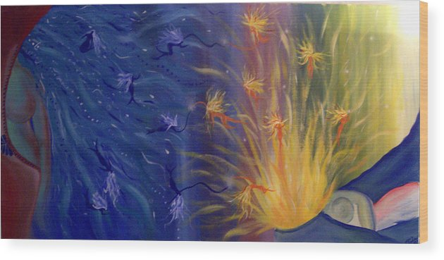 Colorful Wood Print featuring the painting Dance Of Life by Hollie Leffel