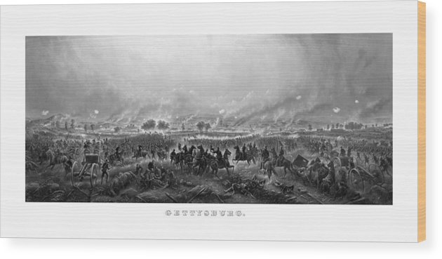 Gettysburg Wood Print featuring the painting Gettysburg by War Is Hell Store