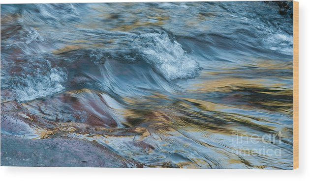Rivers Wood Print featuring the photograph Golden Strands Of Water by Sandra Bronstein