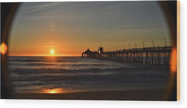 Beach Wood Print featuring the photograph Imperial Beach Pier by Brock Bryant