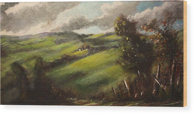Ireland Wood Print featuring the painting Ireland County Tipperary by Yvonne Ayoub