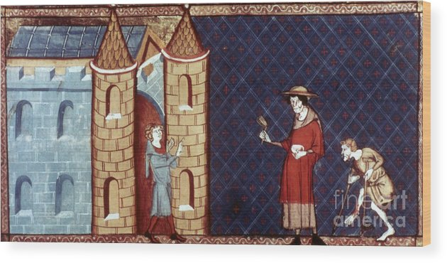 13th Century Wood Print featuring the photograph Leper House, C1220-1244 by Granger