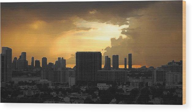Landscape Wood Print featuring the photograph Miami by Joseph Mari