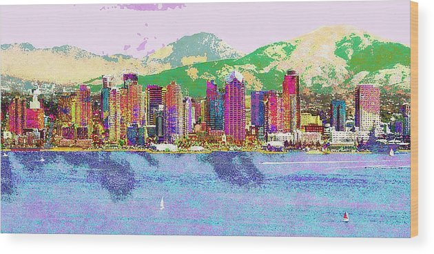 City Scape Wood Print featuring the photograph San Diego by Jeff Gibford