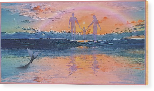 Symbolic Digital Art Wood Print featuring the digital art The Creation by Harald Dastis