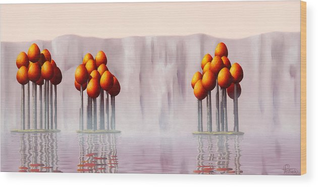 Architecture Wood Print featuring the painting The Lost Ones by Patricia Van Lubeck