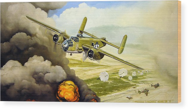 Aviation Wood Print featuring the painting Wild Cargo by Marc Stewart