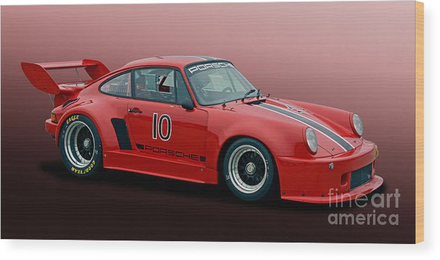 Automobile Wood Print featuring the photograph 1976 Porsche 935 K1 by Tad Gage