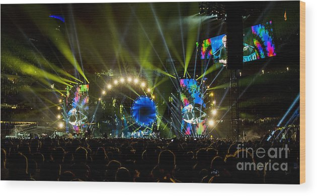 Grateful Dead Wood Print featuring the photograph The Grateful Dead At Soldier Field Fare Thee Well Tour by David Oppenheimer