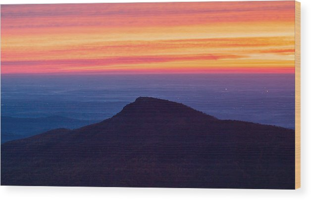 Old Rag Mountain Wood Print featuring the photograph Old Rag Sunrise by Geoffrey Archer