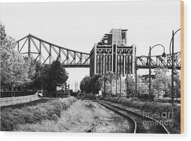 Down The Tracks Wood Print featuring the photograph Down The Tracks by John Rizzuto