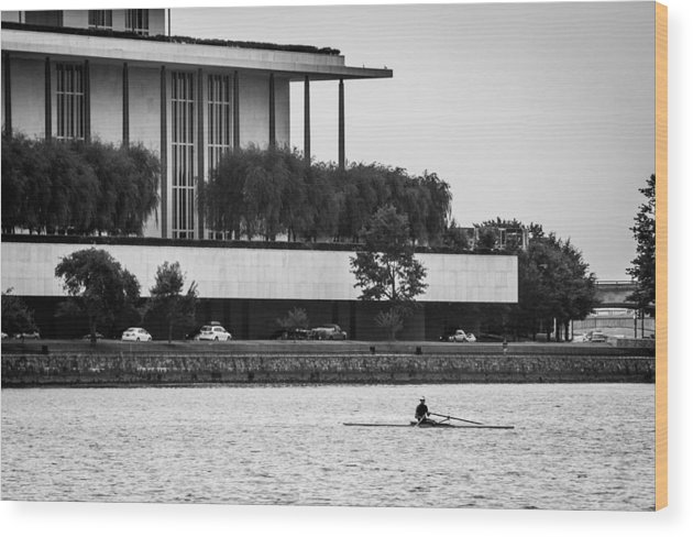 John F. Kennedy Center Wood Print featuring the photograph The Rower by Alex Banakas