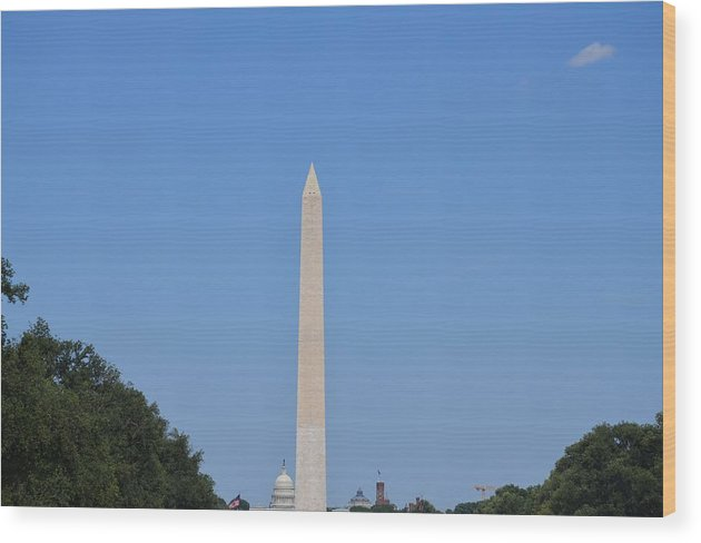 Monument Wood Print featuring the painting To The Sky by Turtleberry Press Photography