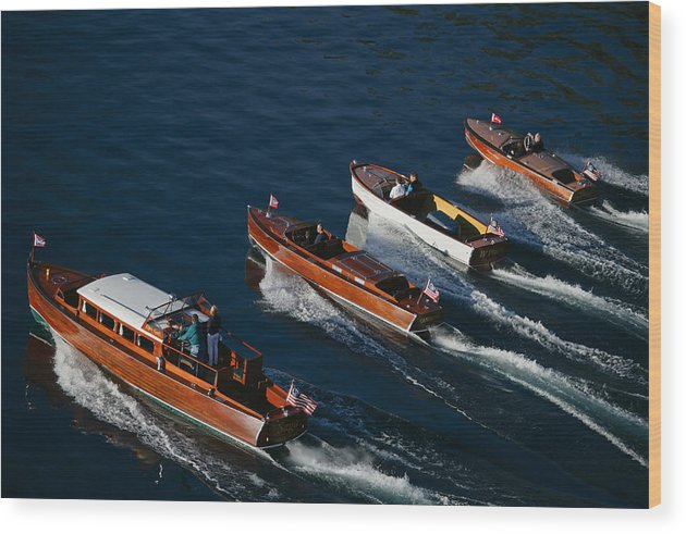 Riva Wood Print featuring the photograph Classic Woodies by Steven Lapkin