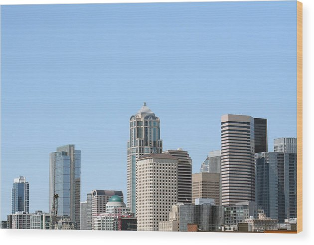 City Scapes Wood Print featuring the photograph Seattle by Gerald Mitchell