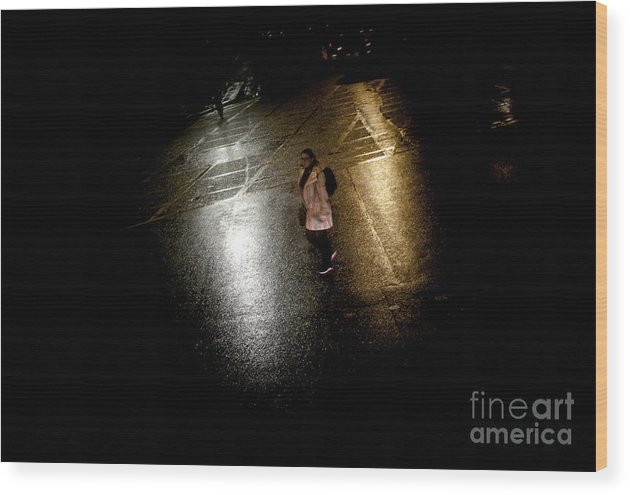 Wood Print featuring the pyrography Rainy Whether In London by Cyril Jayant