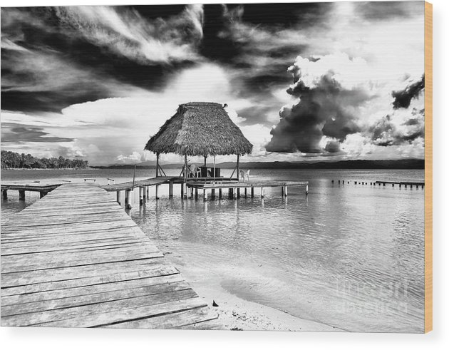Bocas Del Drago Clouds Wood Print featuring the photograph Bocas Del Drago Clouds In Panama by John Rizzuto