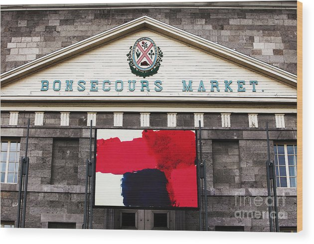 Montreal Wood Print featuring the photograph Bonsecours Market by John Rizzuto