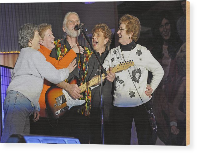 Photographs Wood Print featuring the photograph Friends In Concert by Franklin Conour