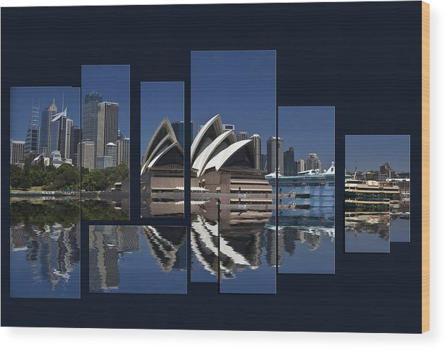 Sydney Harbour Wood Print featuring the photograph Sydney Harbour Collage by Sheila Smart Fine Art Photography
