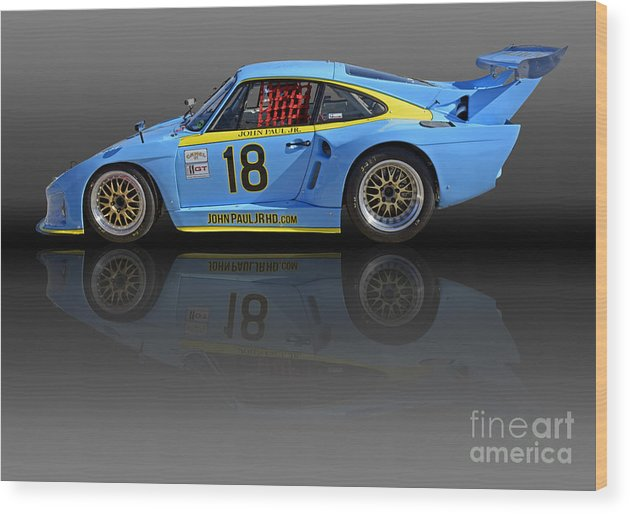Automobile Wood Print featuring the photograph Porsche 935 K3 Slant-nose by Tad Gage